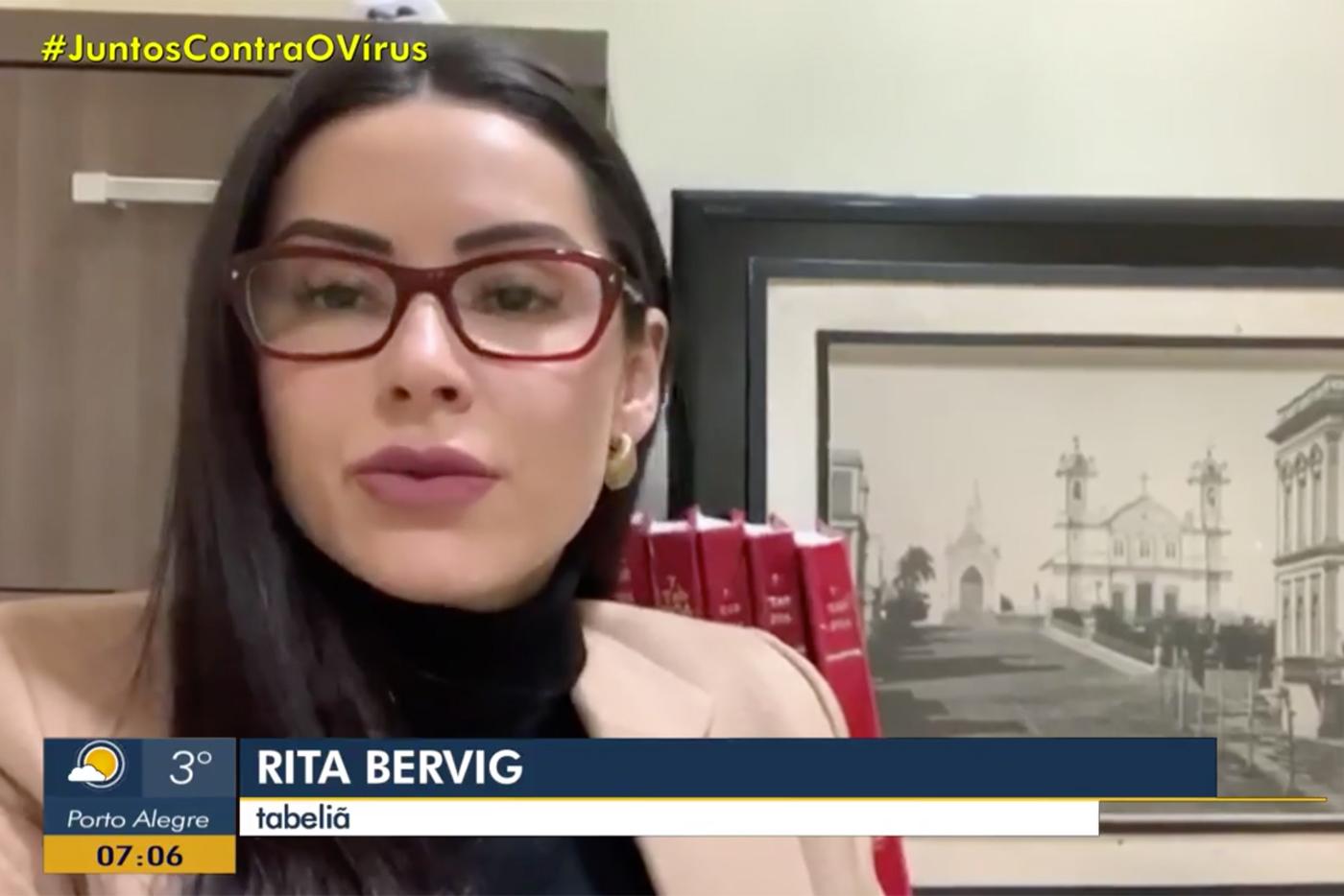 Tabeliã Rita Bervig Concede Entrevista Ao Programa Bom Dia Rio Grande